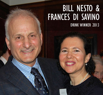 Bill Nesto and Frances Di Savino, 2013 Drink Winner