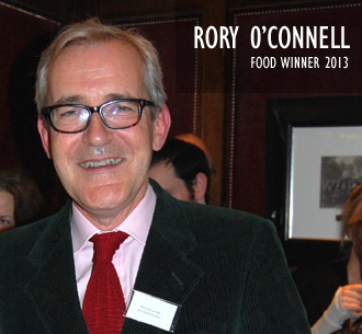 Rory O'connell, 2013 Food Winner