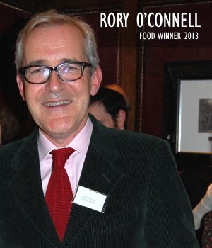 Rory O'Connell, Food Winner 2013